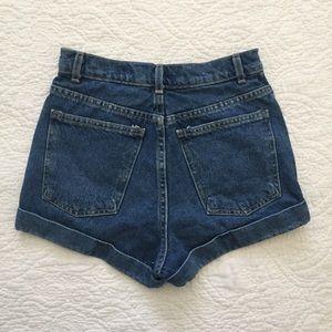 American Apparel Denim Short High Waist Jean Sz 25